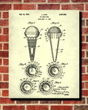 Ice Cream Cones Patent Print Kitchen Wall Art Blueprint Cafe Poster - OnTrendAndFab