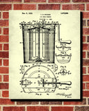 Ice Cream Maker Patent Print Kitchen Wall Art Blueprint Cafe Poster - OnTrendAndFab