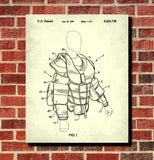 Ice Hockey Poster Goalie Pads Patent Print Sports Blueprint