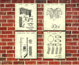 Ice Hockey Patent Prints Set 4 Ice Skating Posters Sports