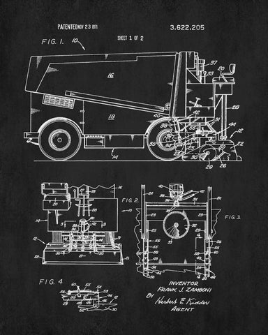 Ice hockey poster zamboni ice rink machine patent print sports ice hockey poster zamboni ice rink machine patent print sports blueprint malvernweather Image collections