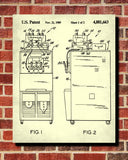 Ice Cream Making Patent Print Cafe Poster Kitchen Wall Art Blueprint - OnTrendAndFab