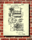 Ice Cream Machine Patent Print Cafe Poster Kitchen Wall Art Blueprint - OnTrendAndFab