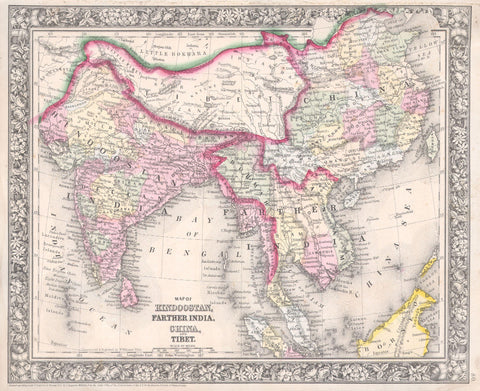 India Map Print Vintage Poster Old Map as Art - OnTrendAndFab