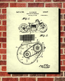 Indian Motorcycle Patent Print Biking Blueprint Motorbike Poster - OnTrendAndFab