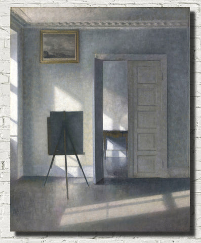 Wilhelm Hammershoi Fine Art Print, Interior With Easel