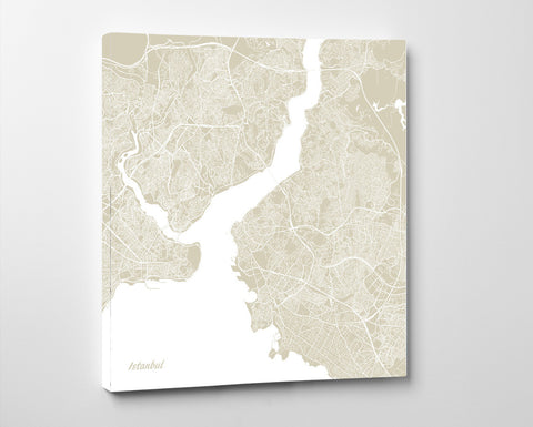 Istanbul City Street Map Print Modern Art Poster Home Decor - OnTrendAndFab