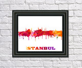 Istanbul City Skyline Print Wall Art Poster Turkey - OnTrendAndFab