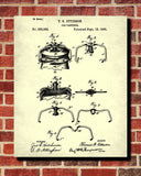 Jar Fastener Patent Print Cafe Blueprint Kitchen Poster