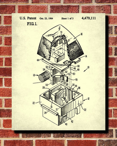 Keyboard Key Patent Print Computer Blueprint Technology Poster - OnTrendAndFab