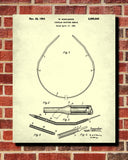 Knitting Needle Patent Print Craft Blueprint Sewing Room Poster - OnTrendAndFab