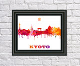 Kyoto City Skyline Print Wall Art Poster Japan - OnTrendAndFab