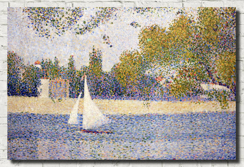 Georges Seurat Print : Seine from La Grand Jatte