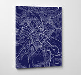 Leeds City Street Map Print Modern Art Poster Home Decor - OnTrendAndFab