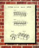 Lego Blueprint Toy Room Poster Building Bricks Patent Print - OnTrendAndFab