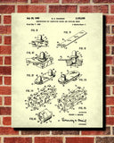 Lego Blueprint Toy Room Poster Building Brick Patent Print - OnTrendAndFab