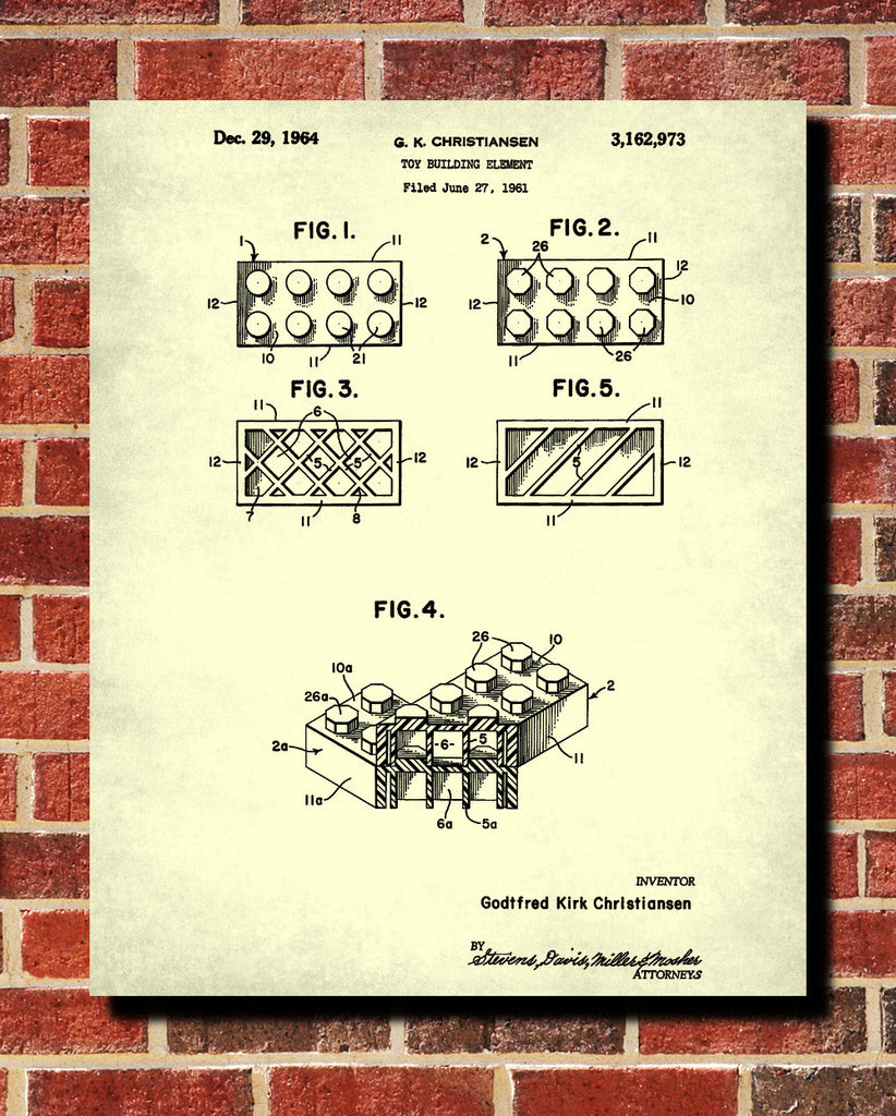 Lego blueprint play room poster building bricks patent print lego blueprint play room poster building bricks patent print malvernweather Image collections