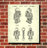 Lego Skeleton Patent Print Building Blocks Blueprint Poster