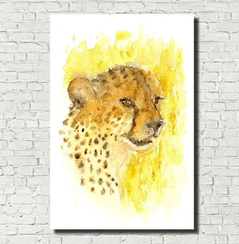 Cheetah Watercolour Print, Andi Lucas Wildlife Art
