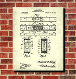 Carpenters Level Patent Print Hand Tools Blueprint Workshop Poster