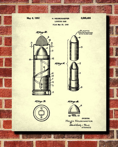 Lipstick Patent Print Makeup Beauty Poster Salon Wall Art - OnTrendAndFab