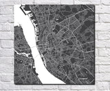 Liverpool City Street Map Print Modern Art Poster Home Decor