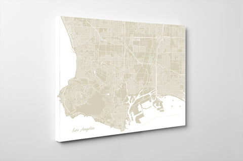 Los Angeles City Street Map Print Feature Wall Art Poster