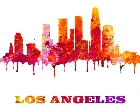 Los Angeles City Skyline Print Wall Art Poster California - OnTrendAndFab