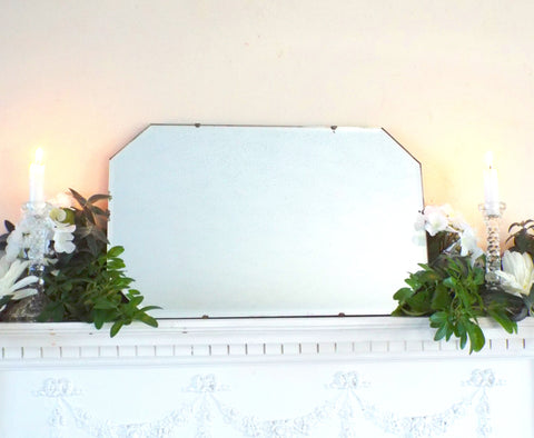 Vintage Feature Mirror Art Deco Frameless Bevel Edge M378 - OnTrendAndFab