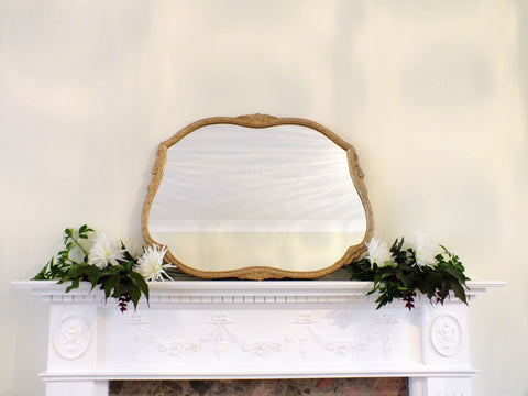 Vintage Mirror Gold Wooden Framed Mirror M414