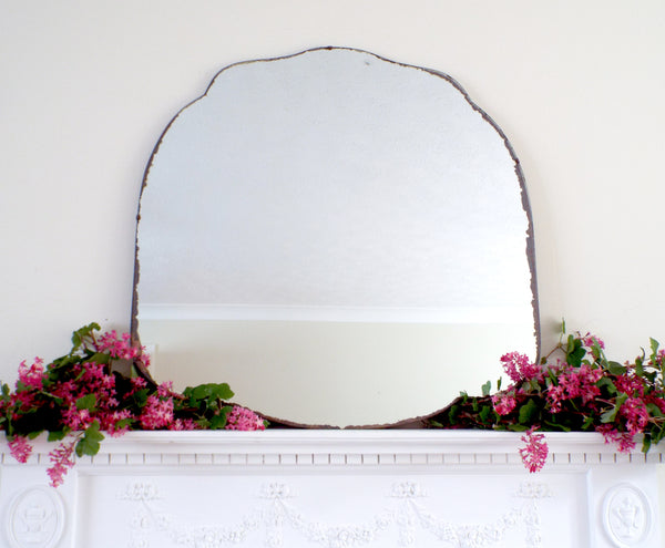 Antique Art Deco Mirror Frameless Cloud Feature Extra Large Mirror M421