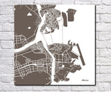 Macau City Street Map Print Modern Art Poster Home Decor - OnTrendAndFab