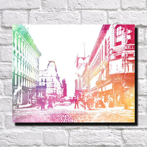 New Orleans Street Scene Print City Landscape Poster Feature Wall Art