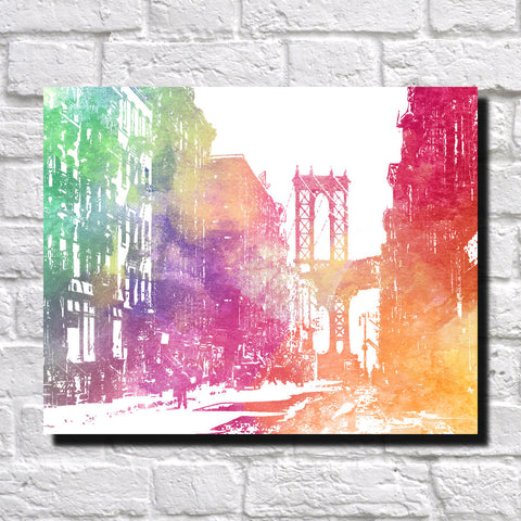 Manhattan Bridge Print City Landscape Poster Feature Wall Art