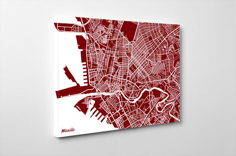 Manila City Street Map Print Feature Wall Art Poster