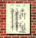Mechanical Pencil Patent Print Pencil Blueprint Office Poster