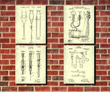 Medical Patent Prints Set 6 Doctor Nurse Art Posters