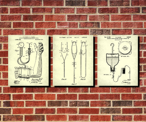 Medical Wall Art Set 3 Posters Doctor Nurse Office Decor