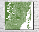 Miami City Street Map Print Custom Wall Map - OnTrendAndFab