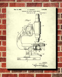 Microscope Patent Print Science Wall Art Scientist Poster - OnTrendAndFab