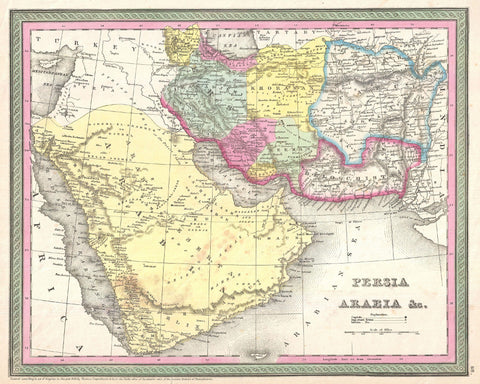Persia Map Print Vintage Poster Old Map as Art - OnTrendAndFab