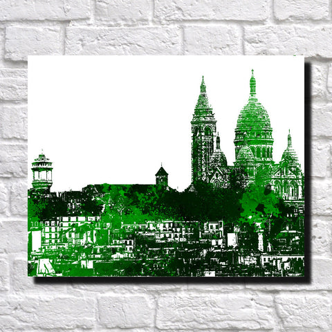 Montmartre Paris Print City Landscape Poster Feature Wall Art