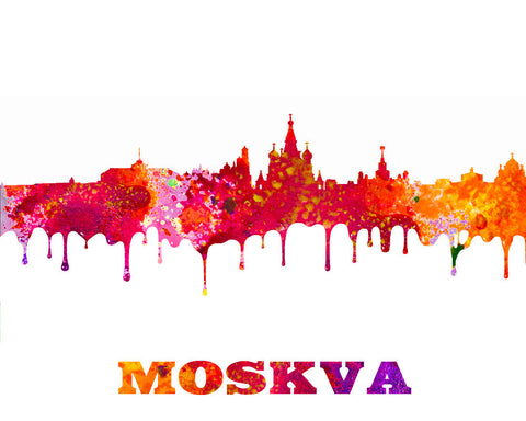 Moscow City Skyline Print Wall Art Poster Russia - OnTrendAndFab