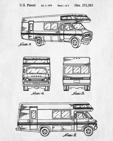 Motorhome patent print rv blueprint camping outdoors poster motorhome patent print rv blueprint camping outdoors poster malvernweather