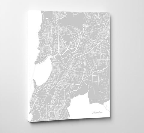 Mumbai City Street Map Print Feature Wall Art Poster