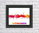 Munich City Skyline Print Wall Art Poster Germany - OnTrendAndFab