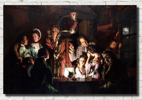 Joseph Wright of Derby Fine Art Print : An Experiment on a Bird in an Air Pump