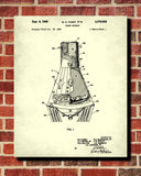 Space Capsule Patent Print NASA Astronaut Wall Art Poster