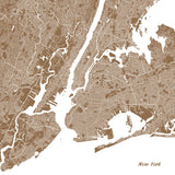 New York City Street Map Print Modern Art Poster Home Decor - OnTrendAndFab