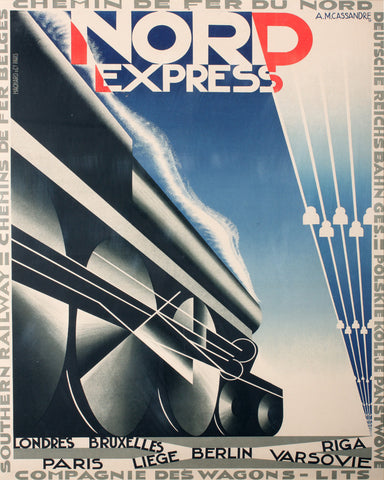 Nord Express Train Print Vintage French Travel Poster Art